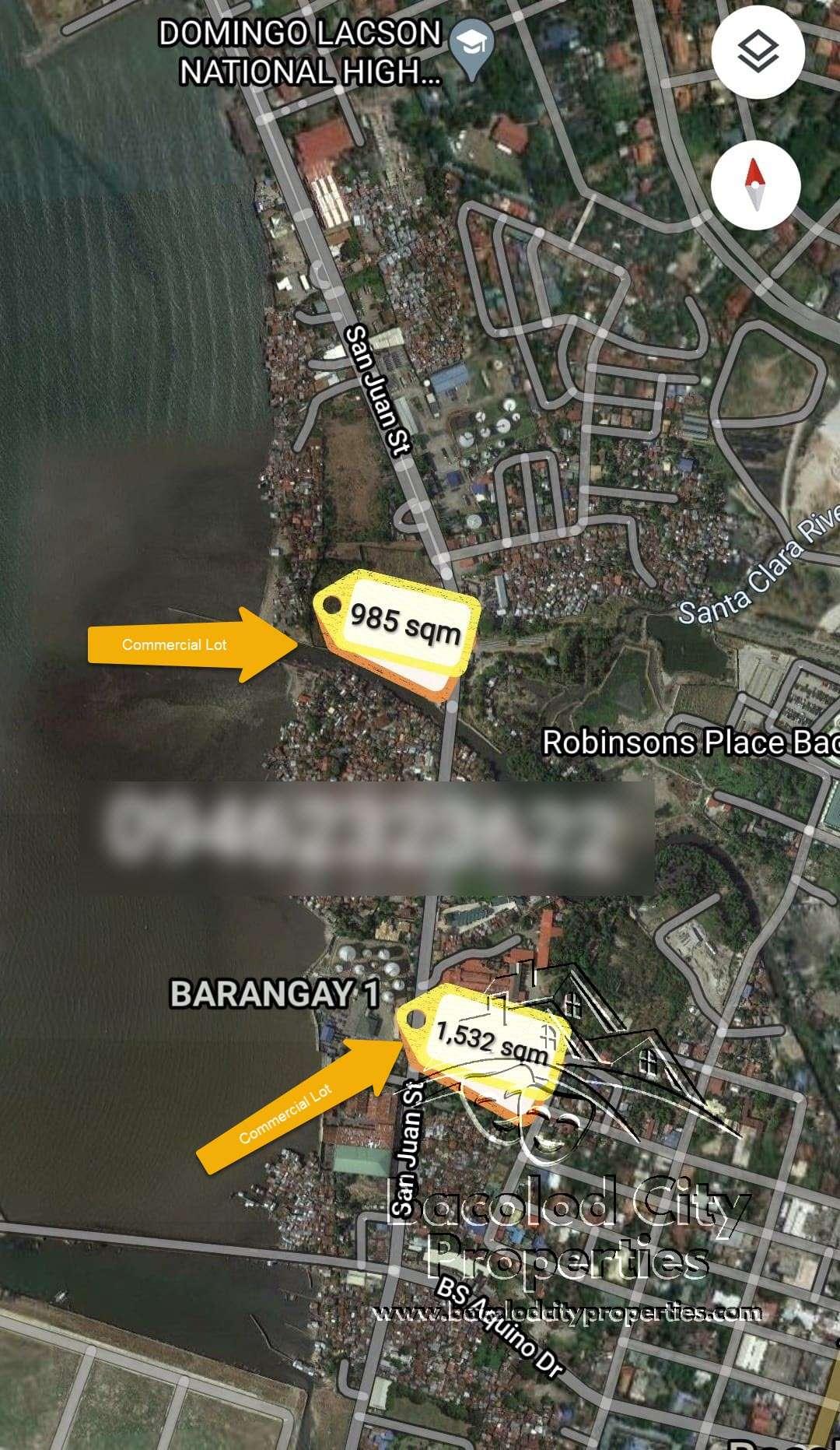 Commercial Lot San Juan St Bacolod
